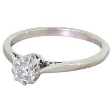 Art Deco 0.50 Carat Old Cut Diamond Engagement Ring, circa 1935