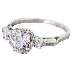 Art Deco 1.80 Carat Old Cut Diamond Engagement Ring, circa 1925