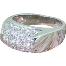 BULGARI Troncetto Pavé Diamond Ring, 18k White Gold