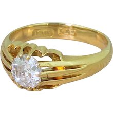 Victorian 0.55 Carat Old Cut Diamond Solitaire Ring, circa 1900