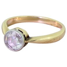Victorian 0.50 Carat Rose Cut Diamond Engagement Ring, circa 1900