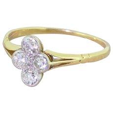 Edwardian 0.60 Carat Old Cut Diamond Four Stone Cluster Ring, circa 1910