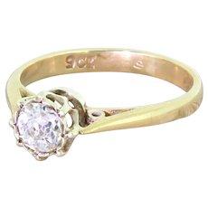 Victorian 0.40 Carat Old Cut Diamond Engagement Ring, circa 1900