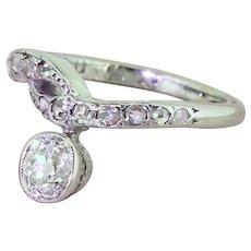 Art Deco 0.50 Carat Old Cut Diamond Solitaire Ring, circa 1925