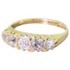 Edwardian 1.20 Carat Old Cut Diamond Five Stone Diamond Ring, circa 1910