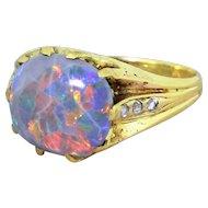 Art Deco 2.50 Carat Australian Opal Ring, circa 1935