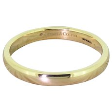 TIFFANY & CO. 3mm Lucida Wedding Band, 18k Gold