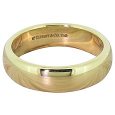TIFFANY & CO. 6mm Lucida Wedding Band, 18k Gold