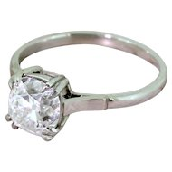 Art Deco 1.72 Carat Old Mine Cut Diamond Engagement Ring, circa 1920
