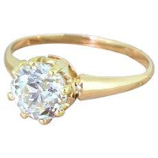 Art Deco 1.95 Carat Old Cut Diamond Engagement Ring, circa 1915