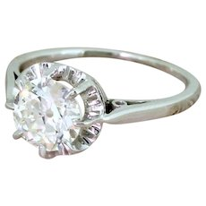Art Deco 1.21 Carat Old Cut Diamond Engagement Ring, circa 1925