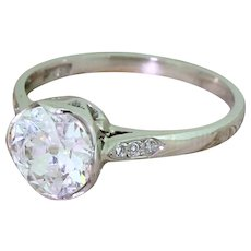 Art Deco 1.26 Carat Old Cut Diamond Engagement Ring, circa 1925