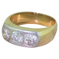 Edwardian 1.55 Carat Old Cut Diamond Trilogy Ring, circa 1905