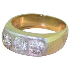 Edwardian 1.55 Carat Old Cut Diamond Trilogy Ring, circa 1905