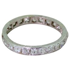 Art Deco 1.08 Carat Old Cut Diamond Full Eternity Ring, circa 1915