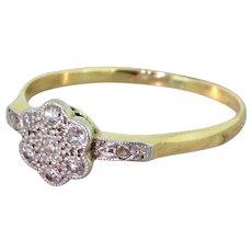 Edwardian Old Cut Diamond Daisy Cluster Ring, circa 1910