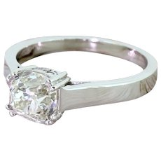 Art Deco 1.72 Carat Old Cut Diamond Engagement Ring, French, circa 1935
