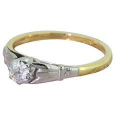 Art Deco 0.25 Carat Old Cut Diamond Engagement Ring, circa 1935