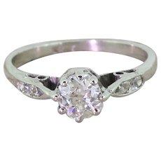 Art Deco 0.65 Carat Old Cut Diamond Engagement Ring, circa 1935