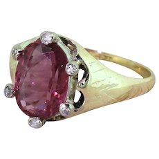 Victorian 2.54 Carat Natural Thai Ruby Solitaire Ring, circa 1900
