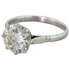 Art Deco 1.90 Carat Old European Cut Diamond Engagement Ring, circa 1935