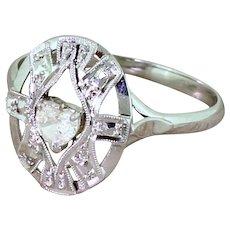 Late 20th Century 0.15 Carat Heart Cut Diamond Ring, French, circa 1975