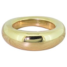 CHAUMET Bombé Band Ring, French, 18k Gold
