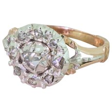 Georgian 0.50 Carat Rose Cut Diamond Cluster Ring, circa 1830