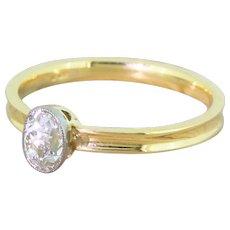 Edwardian 0.48 Carat Old Cut Diamond Engagement Ring, circa 1910