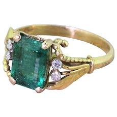 Mid Century 3.00 Carat Emerald Ring, circa 1965