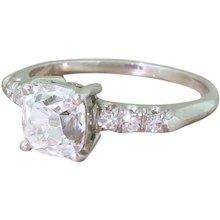 Art Deco 1.51 Carat Old Cut Diamond Engagement Ring, circa 1915