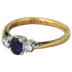 Late 20th Century Sapphire & Diamond Trilogy Ring, circa 1970