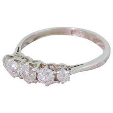 Art Deco 1.15 Carat Old Cut Diamond Five Stone Ring, circa 1925