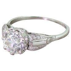 Art Deco 2.00 Carat Old Cut Diamond Engagement Ring, circa 1925