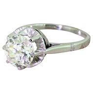 Art Deco 2.00 Carat Old Cut Diamond Engagement Ring, French, circa 1925