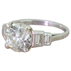Art Deco 2.14 Carat Old Cut Diamond Engagement Ring, circa 1920