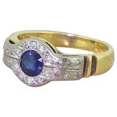 Art Deco 0.45 Carat Sapphire Solitaire Ring, circa 1930