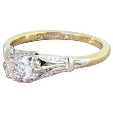 Edwardian 0.61 Carat Old Cut Diamond Engagement Ring, circa 1910