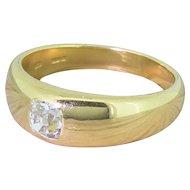 Victorian 0.75 Carat Old Cut Diamond Solitaire Ring, circa 1900