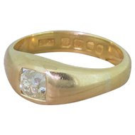 Victorian 0.95 Carat Old Cut Diamond Solitaire Ring, circa 1900
