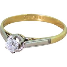 Art Deco 0.25 Carat Old Cut Diamond Engagement Ring, circa 1920