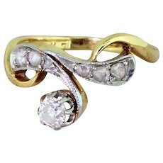 Art Nouveau 0.35 Carat Old Cut Diamond Ring, French, circa 1925