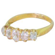 Victorian 1.11 Carat Old Cut Diamond Five Stone Ring, circa 1900