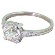 Art Deco 1.84 Carat Old Cut Diamond Engagement Ring, circa 1930