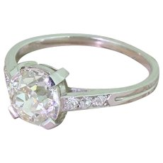 Art Deco 1.84 Carat Old Cut Diamond Engagement Ring, circa 1930
