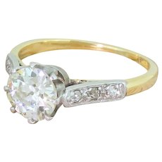 Art Deco 1.02 Carat Old Cut Diamond Engagement Ring, circa 1930