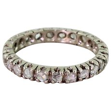 Art Deco 0.69 Carat Rose Cut Diamond Full Eternity Ring, circa 1940