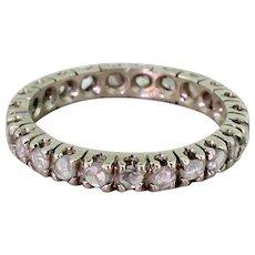 Art Deco 0.69 Carat Rose Cut Diamond Full Eternity Ring, circa 1940