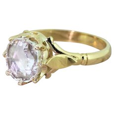 Victorian 0.50 Carat Rose Cut Diamond Solitaire Ring, circa 1900