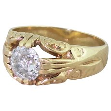 Late 20th Century 1.80 Carat Old Cut Diamond Solitaire Ring, dated 1975